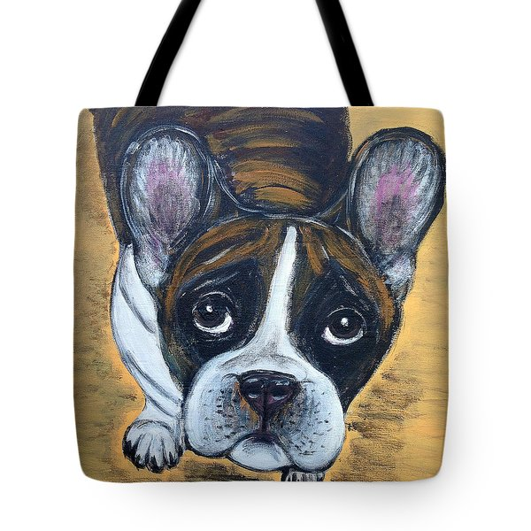 Brindle Frenchie Tote Bag