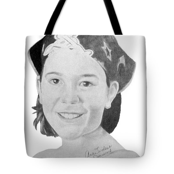 Tote Bag featuring the drawing Brittany Bettencourt by Ana Tirolese