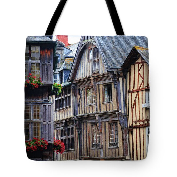 Tote Bag featuring the photograph Brittany Buildings by Dave Mills