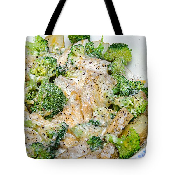 Broccoli Cheese Potatoes Tote Bag by Andee Design