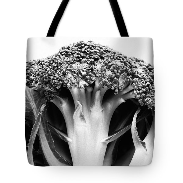 Broccoli On White Background Tote Bag by Gaspar Avila