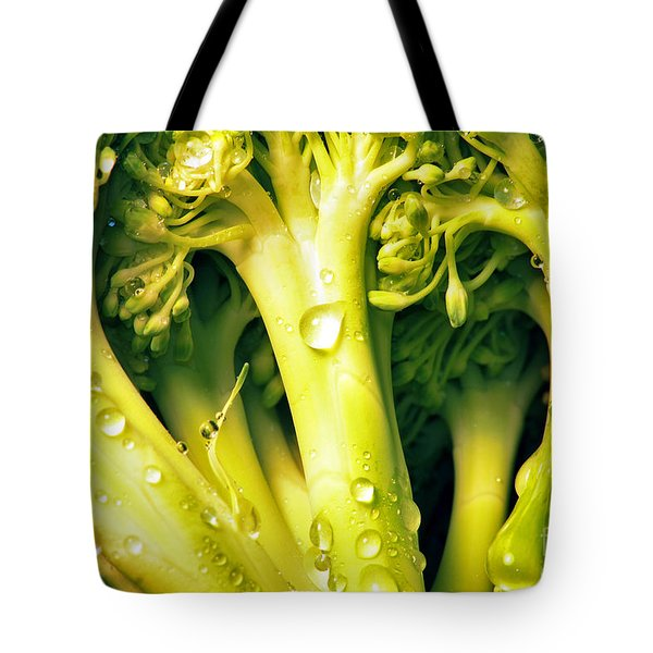 Broccoli Scape I Tote Bag by Nancy Mueller