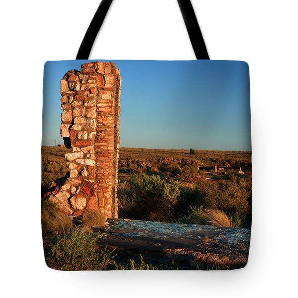 Tote Bag featuring the photograph Broken Glass At Two Guns by Lon Casler Bixby