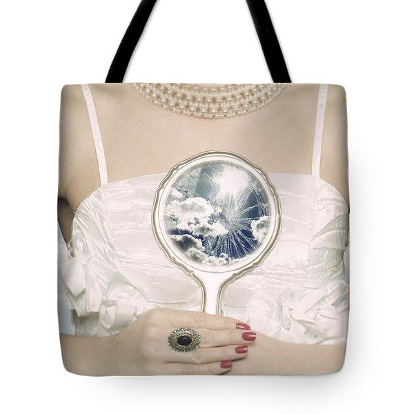 Broken Handmirror Tote Bag by Joana Kruse