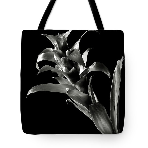 Tote Bag featuring the photograph Bromeliad In Black And White by Endre Balogh