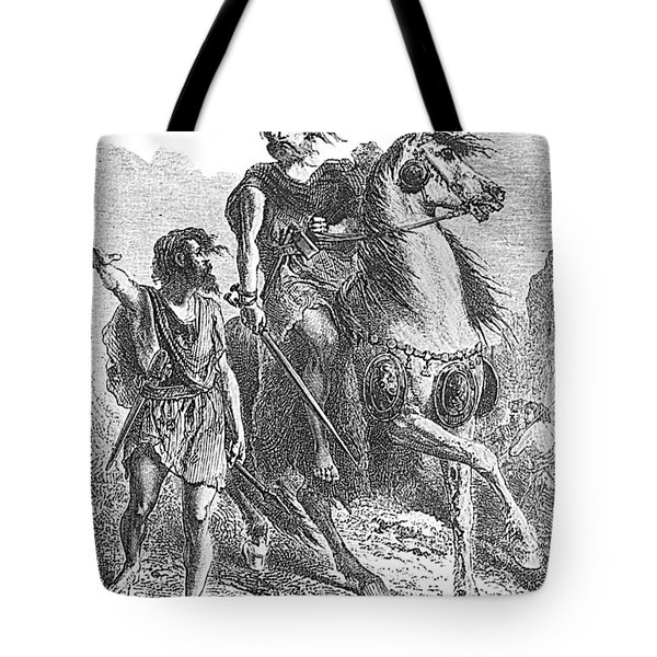 Bronze Age Warrior Tote Bag by Photo Researchers