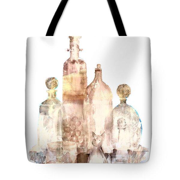 Bronzed Bottles Tote Bag by Arline Wagner
