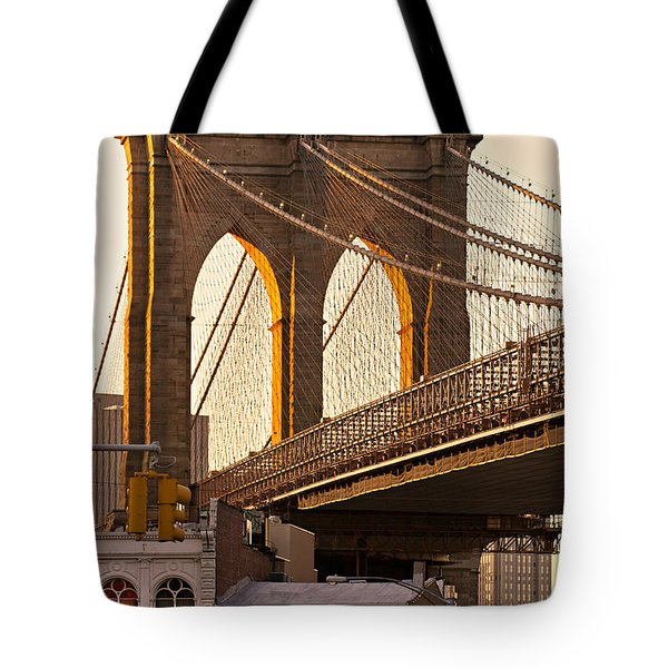 Tote Bag featuring the photograph Brooklyn Bridge - New York by Luciano Mortula