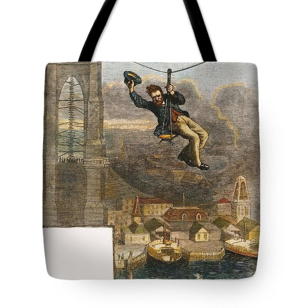 Brooklyn Bridge Mechanic Tote Bag by Granger