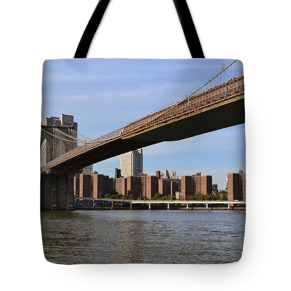 Tote Bag featuring the photograph Brooklyn Bridge1 by Zawhaus Photography