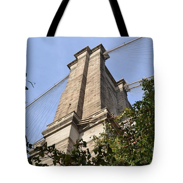 Tote Bag featuring the photograph Brooklyn Bridge2 by Zawhaus Photography