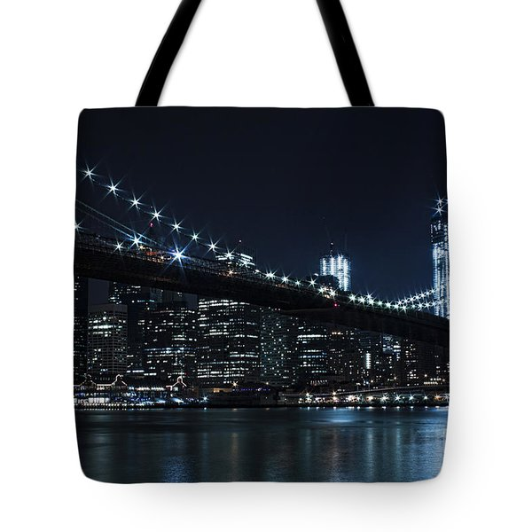 Brooklyn Nights Tote Bag by Andrew Paranavitana