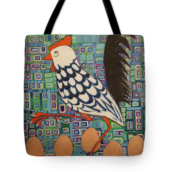 Brown Eggs Are Local Eggs And Local Eggs Have Wheels Tote Bag