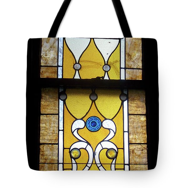 Brown Stained Glass Window Tote Bag by Thomas Woolworth