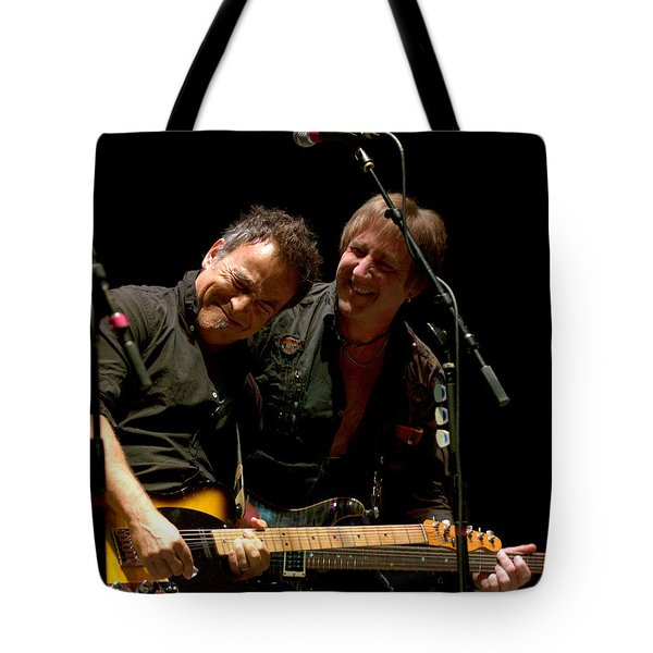 Bruce Springsteen And Danny Gochnour Tote Bag