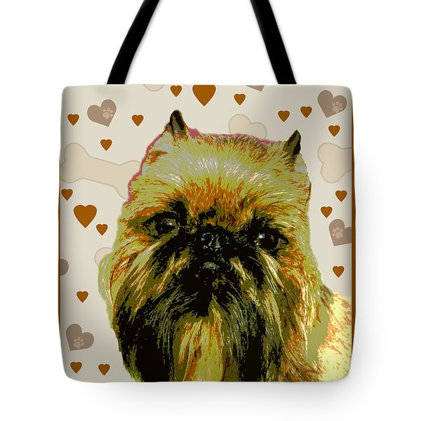 Brussels Griffen Tote Bag by One Rude Dawg Orcutt