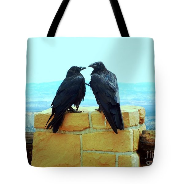 Tote Bag featuring the photograph Bryce Canyon Couple by Ann Johndro-Collins