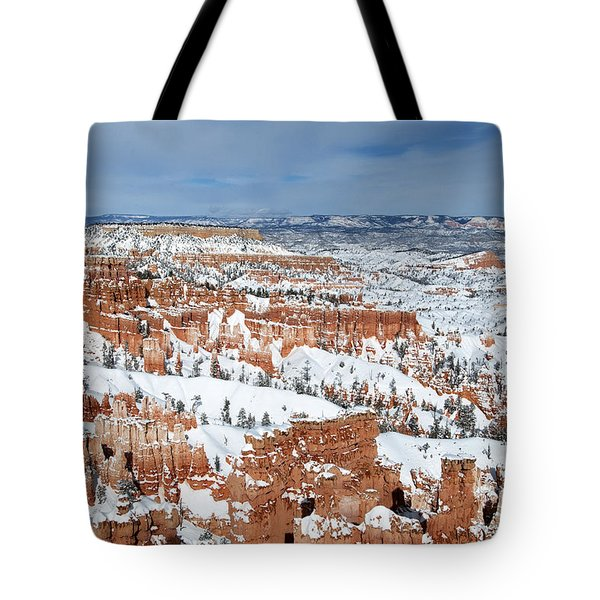 Tote Bag featuring the photograph Bryce Winter by Bob and Nancy Kendrick