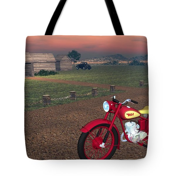 Tote Bag featuring the digital art Bsa Bantam by John Pangia