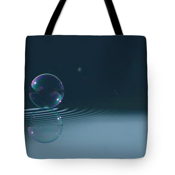 Bubble Ripples Tote Bag by Cathie Douglas