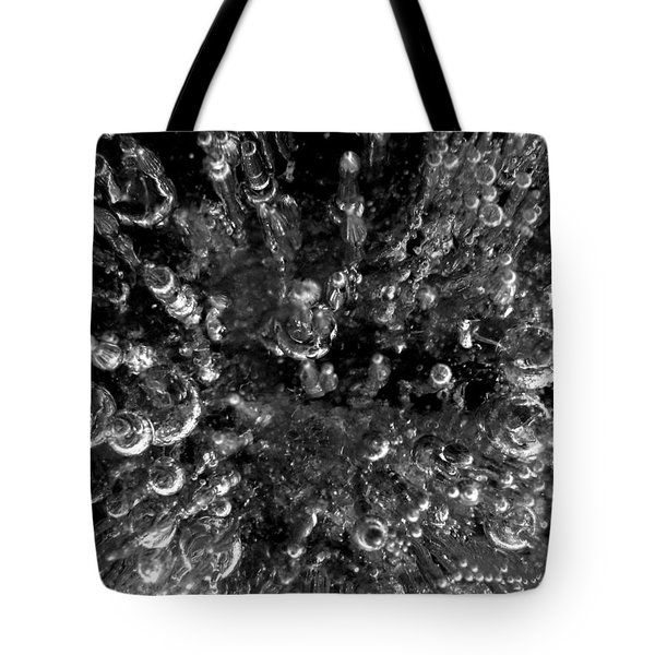 Bubble Towers Trapped In Ice Macro Image Tote Bag by Adam Long