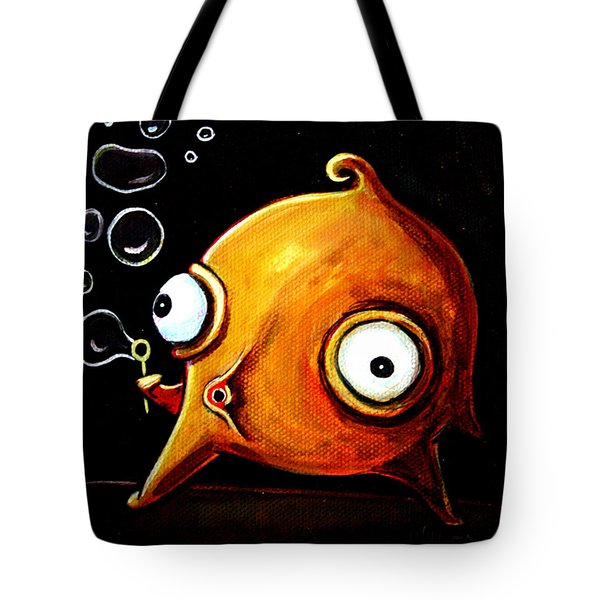 Tote Bag featuring the painting Bubbles Glob by Leanne Wilkes