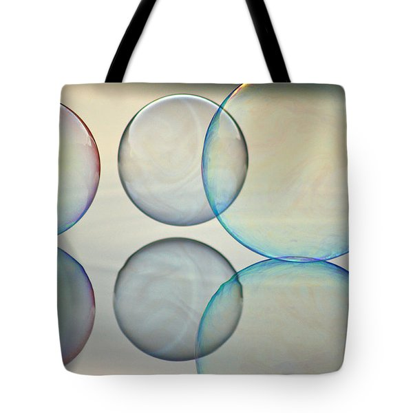 Bubbles On The Water Tote Bag by Cathie Douglas