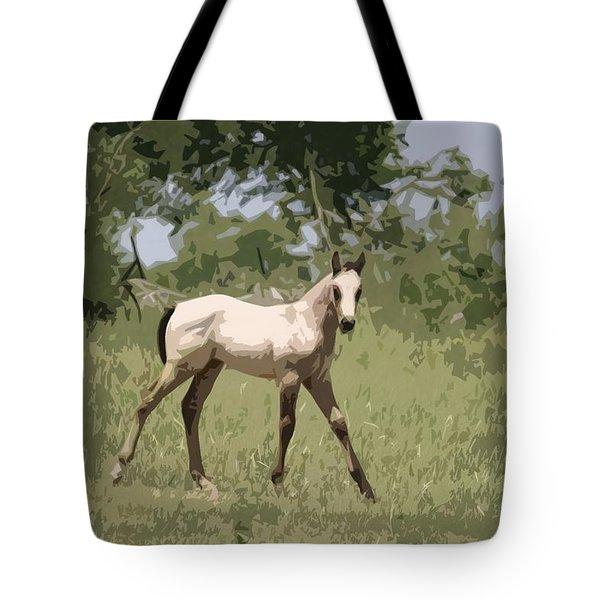 Buckskin Pony Tote Bag by Donna G Smith