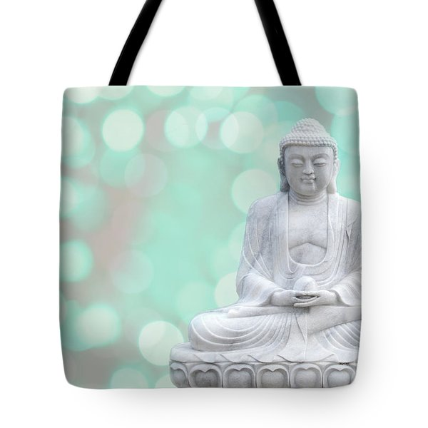 Buddha  Enlightment  Green Tote Bag by Hannes Cmarits