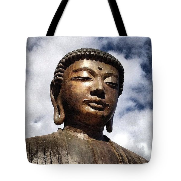 Buddha In The Sky Tote Bag by Darice Machel McGuire