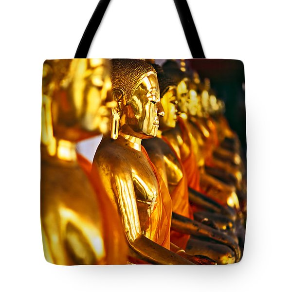 Tote Bag featuring the photograph Buddhas by Luciano Mortula