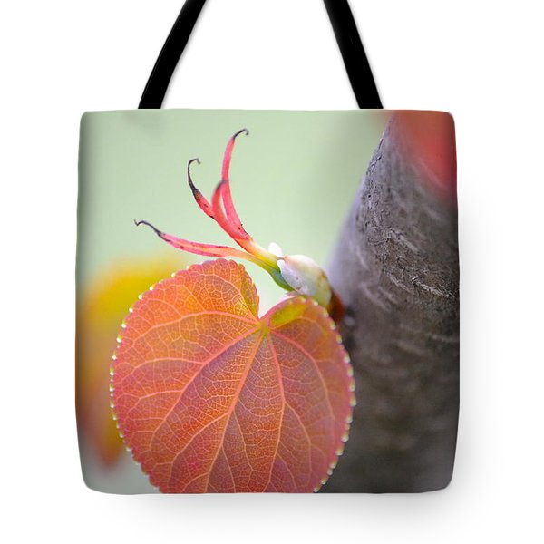 Budding Heart Tote Bag
