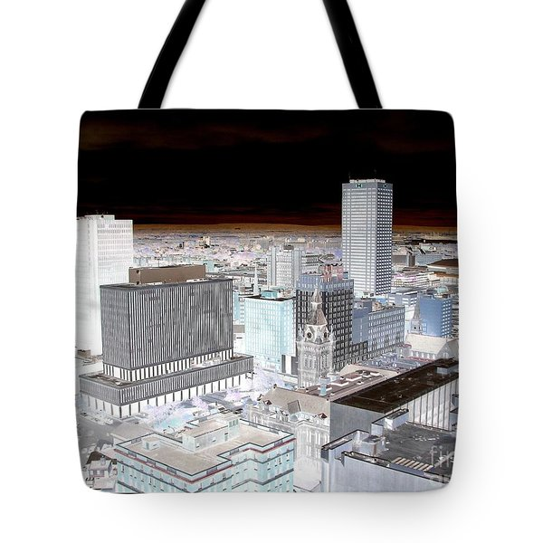 Buffalo New York Aerial View Inverted Effect Tote Bag by Rose Santuci-Sofranko