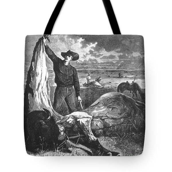 Buffalo Skinner, 1874 Tote Bag by Photo Researchers
