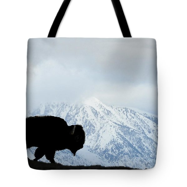 Tote Bag featuring the photograph Buffalo Suvived Another Yellowstone Winter by Dan Friend