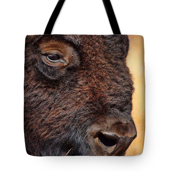 Buffalo Up Close Tote Bag by Alan Hutchins