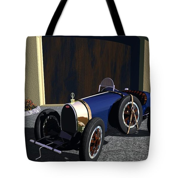 Tote Bag featuring the digital art Bugatti by John Pangia
