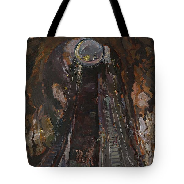 Building Hydropower Tunel Tote Bag