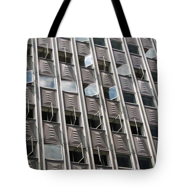 Tote Bag featuring the photograph Building With Many Squares by Alfred Ng