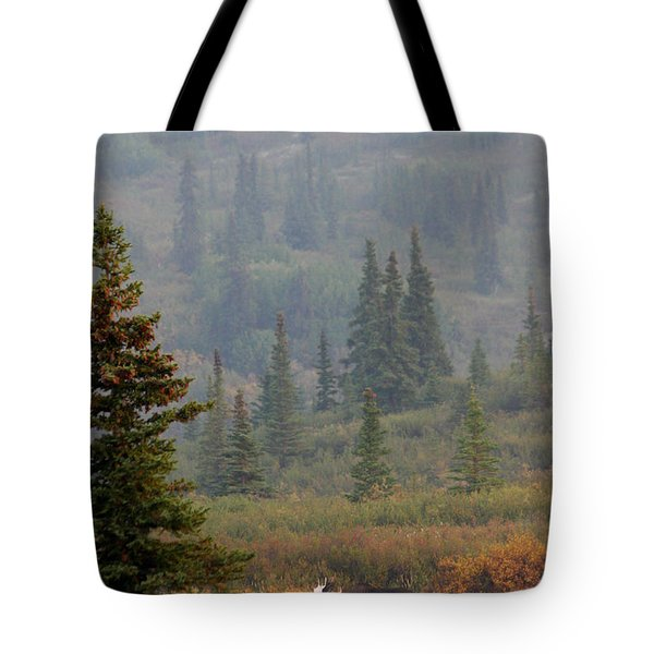 Bull Moose In Alaska Tote Bag by Karen Lee Ensley