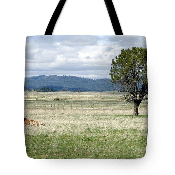 Bull Tote Bag by Sara Stevenson