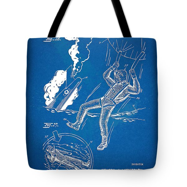 Bulletproof Patent Artwork 1968 Figures 16 To 17 Tote Bag by Nikki Marie Smith