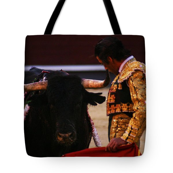 Bullfight Madrid Tote Bag