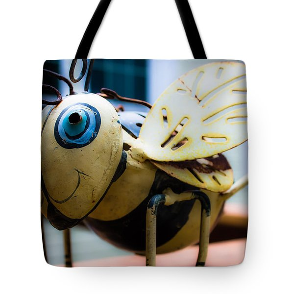 Bumble Bee Of Happiness Metal Sculpture Tote Bag