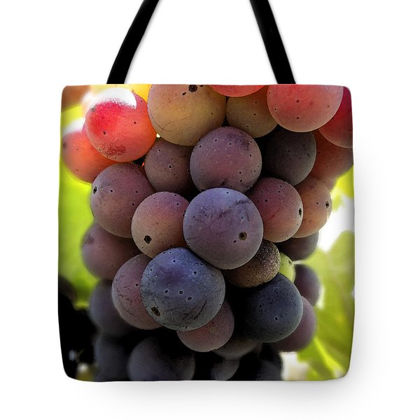 Bunch Of Ripening Grapes Tote Bag by Anne Mott