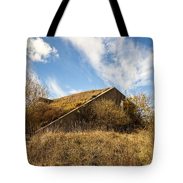 Bunker Down Tote Bag by CJ Schmit