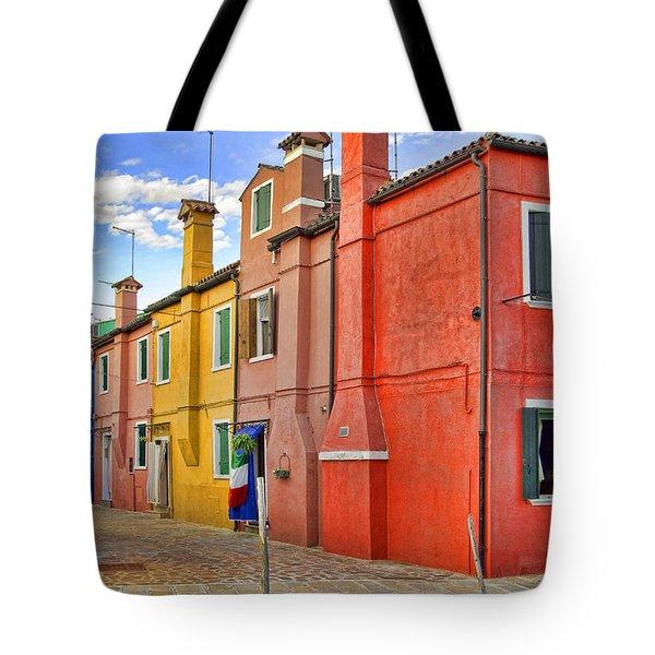 Burano 2 Tote Bag by Mauro Celotti