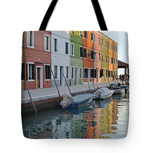 Tote Bag featuring the photograph Burano Canal by Rebecca Margraf