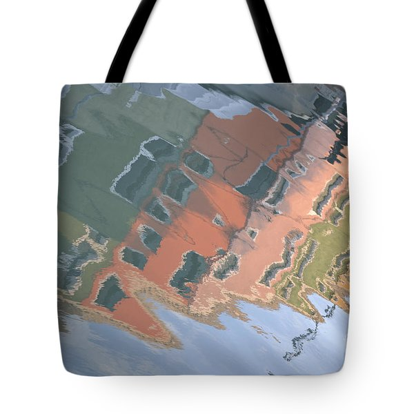 Tote Bag featuring the photograph Burano House Reflections by Rebecca Margraf