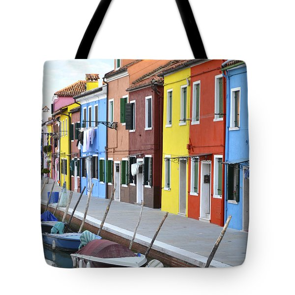 Tote Bag featuring the photograph Burano Italy 2 by Rebecca Margraf